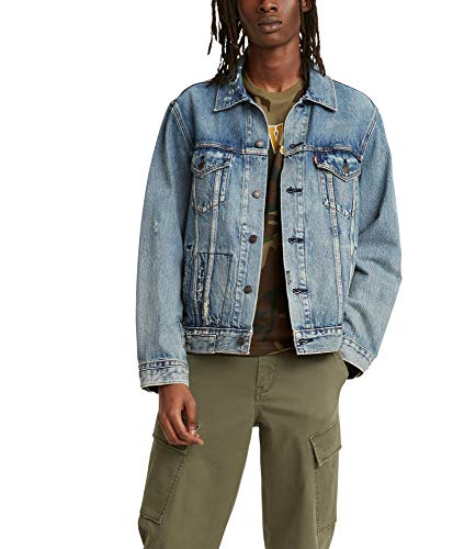 Levi's Men's Vintage Fit Trucker Jackets, inside Job Destructed, X-Large