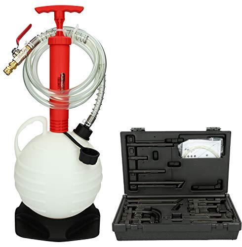 KS TOOLS 150.9675 Kit de Remplissage d'huile de Transmission Universel avec 15 adaptateurs