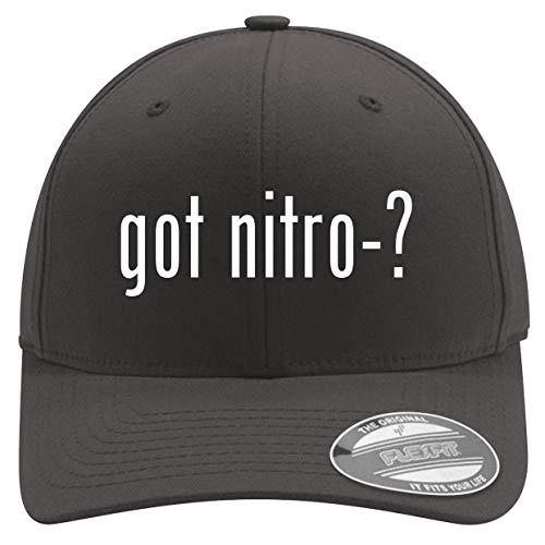 got Nitro-? - Men's Soft & Comfortable Flexfit Baseball Hat, Dark Grey, Large/X-Large