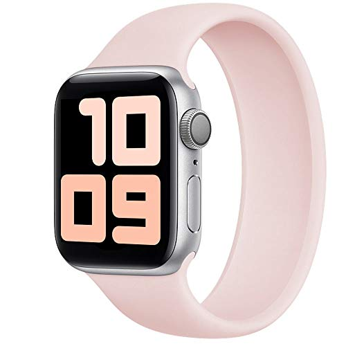 Strawberry Apple Pie Band Compatible for Apple Watch Silicone Solo Loop Band Strap 38mm 40mm 42mm 44mm, Sports Wristband Replacement for Iwatch Series 6/5/4/3/2/1 (Pink 42/44mm/11)