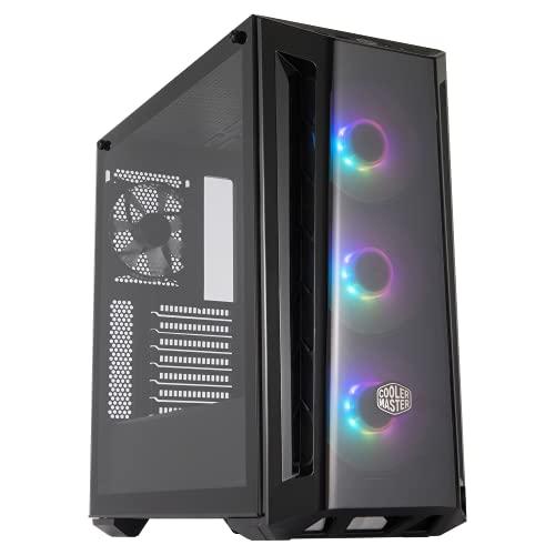 Cooler Master MasterBox MB520 RGB - ATX-PC-Gehäuse mit getönter Frontplatte, 3 x 120 mm vorinstallierten Lüftern, Glasseitenwand, flexiblen Luftstromkonfigurationen