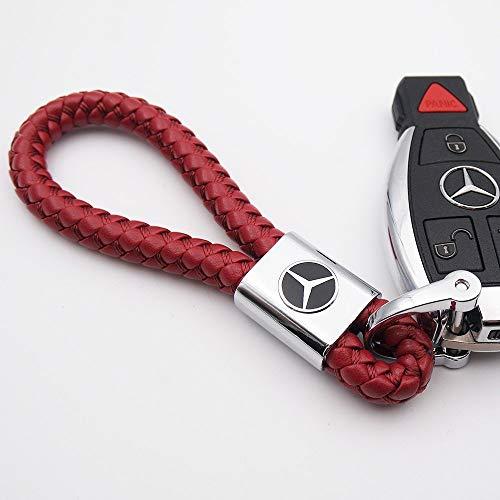 Llavero de coche con logotipo y correa de cuerda, de Fitracker, para Mercedes Benz, rosso
