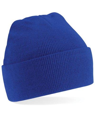 Bonnet tricoté Beechfield Junior - Bleu - Taille unique