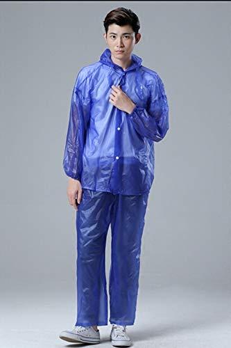 Kleur Transparant Regenjas Regenbroek Waterdichte Poncho Regenjas Lichtgewicht Regenjas Met Hood Noodregenjas Voor Reizen & Buiten