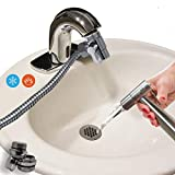 AVAbay Faucet Bidet Sprayer for Toilet - Warm Water Diaper Sprayer Set with Adapters Diverter for Hot and Cold - Faucet Diverter Handheld Water Hose Attachment for Sink or Bathroom Toilet