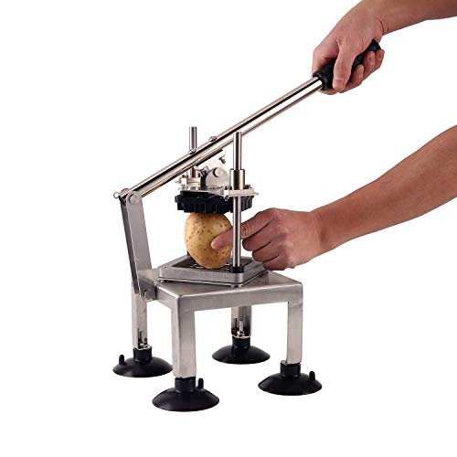 French Fry Cutter, SAYA Professional Potato Cutter Stainless Steel with 1/2-Inch Blade Great for Potatoes Carrots Cucumbers