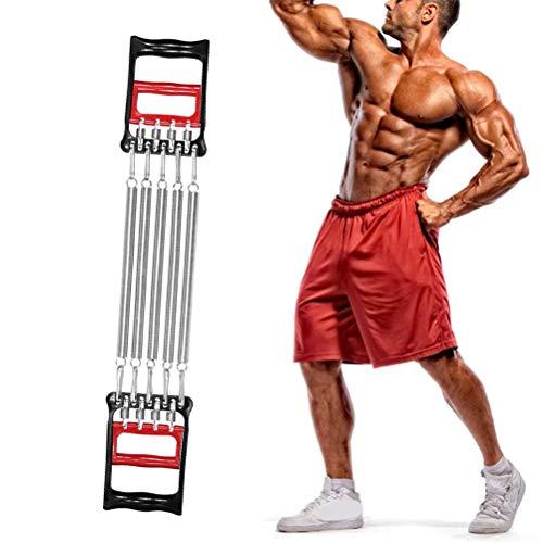 Borstu Chest Expander Borstexpander 5-voudig verstelbare weerstandsbanden handspieren trainingsapparaat voor armen, benen, schouders, biceps(treksterkte ca. 40 kg).