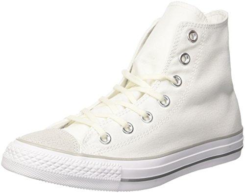 Converse Damen CTAS HI Fitnessschuhe, Weiß (White/Silver/White 102), 36 EU
