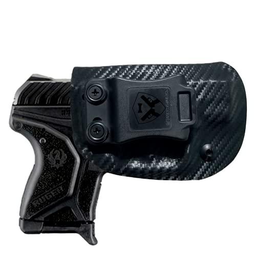 Black Jacket Holster IWB KYDEX Holster: fits Ruger LCP II (2) (Carbon Fiber Black - Right Handft Hand)