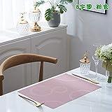 GUOCAO Mesa Placemats Protección Ambiental Tasimllim Occidental Pad Pad PVC Almohadilla Trenzada Anti-Skid and Heat Aislation Posavasos Estera (Color : Pink, Size : 6 Pieces)