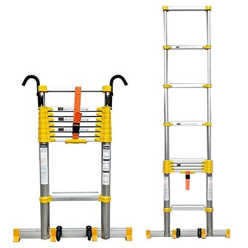 YXX-Escalera Extensible/Escalera Telescópica 5 M / 6 M / 7 M / 8 M Más Alto Escalera Telescópica Con Gancho Y Ruedas, Escaleras De Extensión Telescópicas Plegables Para Edificios Al Aire Libre Y Azote