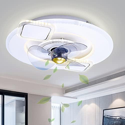 Creatividad Ventilador Lámpara Control remoto Silencioso moderno Led con luz Ventilador para sala de estar Lámpara de techo Ventilador Luz Habitación para niños Comedor