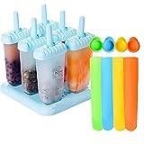 6 Pcs Ice Pop Mould Set and 4Pcs Silicone Popsicle Molds DIY Frozen