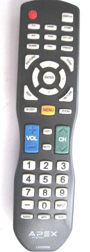 APEX LD200RM Remote Control for all APEX LCD & LED TV for selected models only