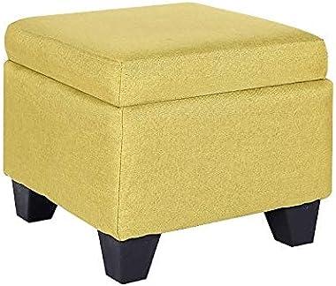 Modern Ottomans Creative Storage Stool Fabric Shoe Bench Stool Living Room Clothing Store Storage Box Small Sofa Footstool (C