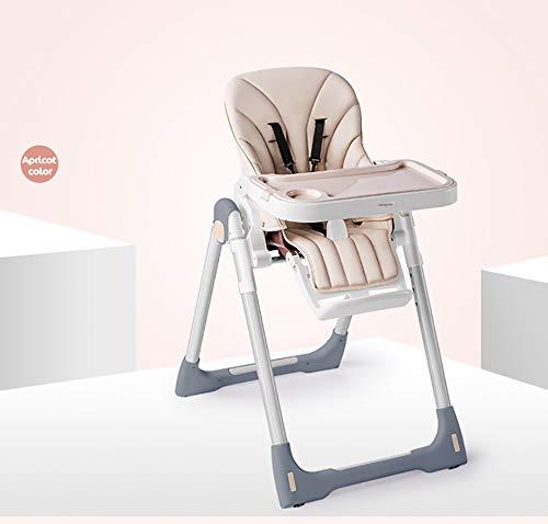 Coussin de Jambe bébé siège Haut Chaise de Salle à Manger Pliable Pratique et multifonctionnelle Convient aux Enfants de 6 Mois à 4 Ans-Lightkhaki