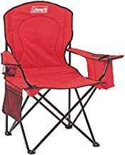 Coleman Portable Quad Camping Chair with Cooler , Red, 37