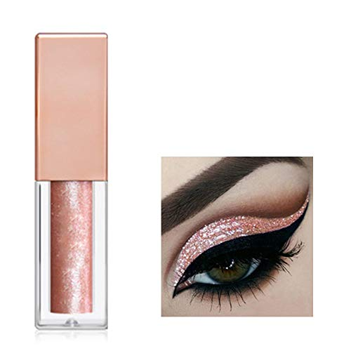 Lasting Liquid Glitter Eyeshadow Waterproof Sparkling Eye Shadow C