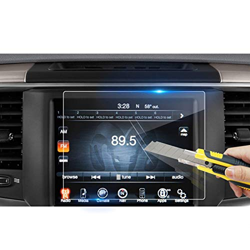LFOTPP Fit for 2013-2019 2020 2021 Ram 1500 2500 3500 Uconnect 8.4 Inch Touchscreen Car Audio Display Screen Protector, Tempered Glass Car Navigation Protector High Clarity Anti-Scratch 8.4 Inch 1 PCS