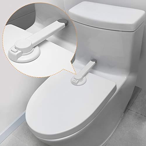 Baby Toilettenschloss [2-Pack] Verbesserter Lückenloser Palettenmechanismus für Kindersicherheit, Kein Werkzeug Erforderlich Einfache Installation mit 3M-Klebstoff.