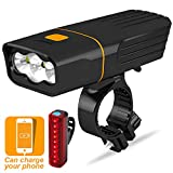 Victgoal USB Rechargeable Bike Light Front and Back Super Bright Powerful Bicycle Headlight
