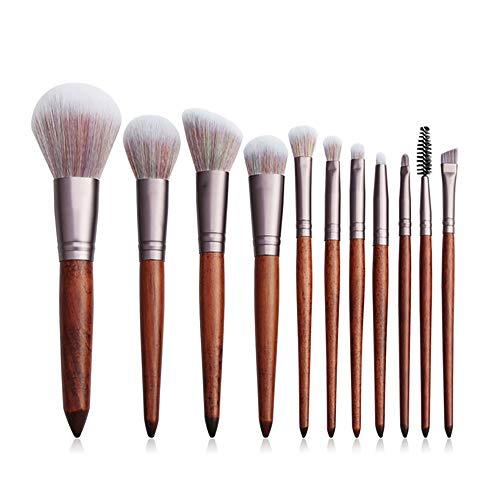 10 / 11pcs Champagne pinceau de maquillage Set Pro for Teint Poudre Fards à paupières cosmétiques for les lèvres outil de beauté (Handle Color : 11pcs brush set)