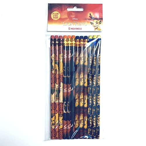 Disney The Lion King - 12 Wood Pencils Pack
