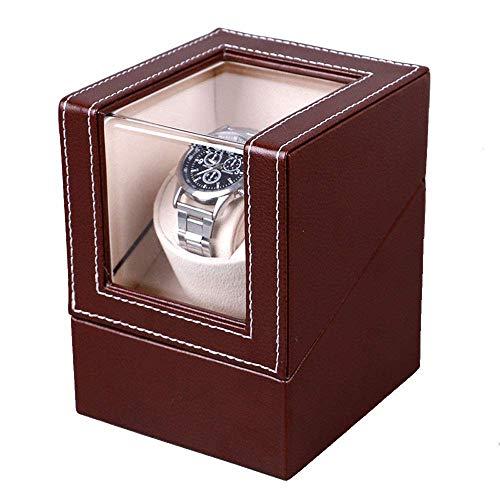 LULUTING Tabla de Cuerda automática acecha la Caja, de Alto Nivel PU de 1 + 0 eléctrico de la coctelera en la Cadena giratoria automática Caja de Reloj, Relojes de rebobinado de la máquina