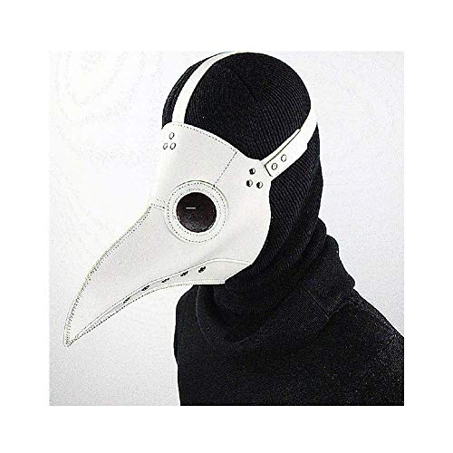Steam Punk Mask Plague Doctor Bird Mask Mask Masquerade Vintage Retro Venetian Crack Party Disfraz de Mardi Gras Halloween Retro Leather Bird Mask Máscara de cuero, negro, blanco,