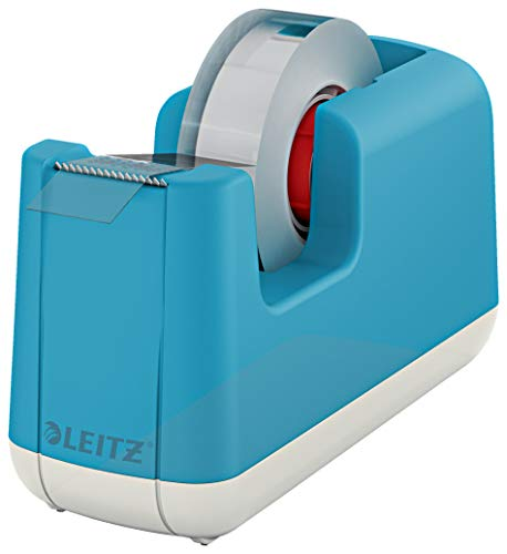 Leitz Dispenser per nastro adesivo, Base appesantita, Nastro incluso, Gamma Cosy, Blu...