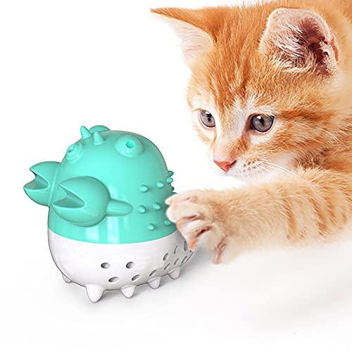 Aoten Squeaky Catnip Toys - Muñeca de gato con pelota de menta para gatos