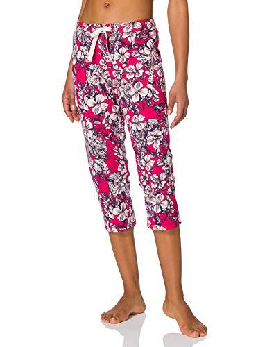 Schiesser Mix & Relax Jerseyhose 3/4 Lang Pantaln de Pijama, Fucsia, 42 para Mujer