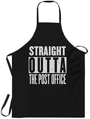 WishState Funny Gag Apron Joke Kitchen Aprons - S Post Office Funny Postal Worker Mailman - One Size fits All for Men Women - Chef Cooking Canvas Poster