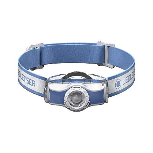 Led Lenser MH3 - Linterna (Linterna con cinta para cabeza, Azul, Blanco, Policarbonato, Polimetilmetacrilato (PMMA), IP54, 2 m, 1 lámpara(s))