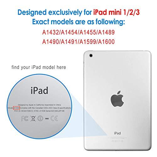『JEDirect iPad mini 1 2 3 ケース 三つ折スタンド オートスリープ機能 (ブラック)』の1枚目の画像