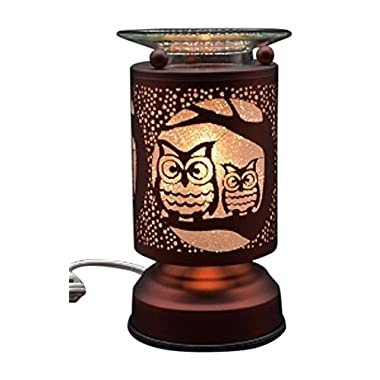 L&V New Electric Touch Fragrance Aromatherapy Lamp Oil Warmer Owl Design