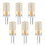 MENGS Pack de 6 bombillas LED G4 de intensidad regulable, 3 W, equivalente a 25 W, 150 lm, luz blanca cálida, 3000 K, G4, 12 V CC