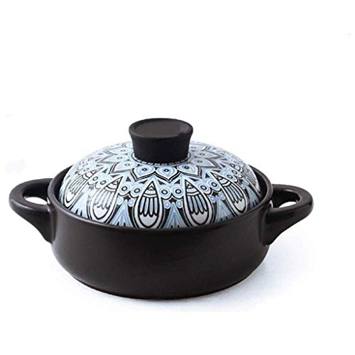 XIUYU Casserole - Herd, Haushalt Gas, Flamme, Keramik Suppentopf, Kleiner Casserole Suppentopf (Größe: 1,5 l) (Size : 3.5L)