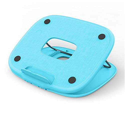 GYHH Laptop Stand Holder,12-speed Adjustment,Folding Design,ABS Material,Super Load-bearing-Good for Heat Dissipation (Blue)