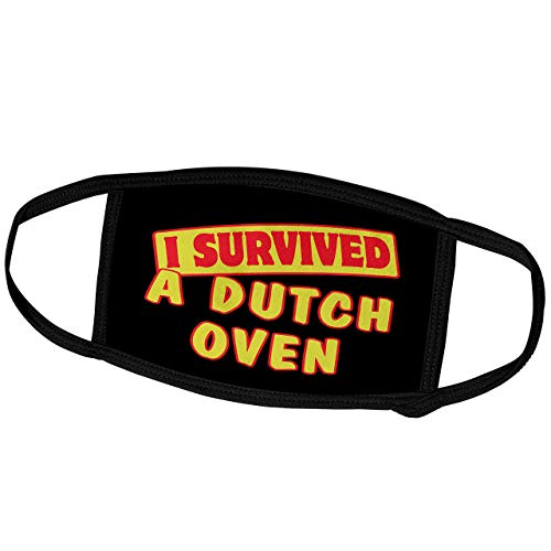 Promini Monatsmaske - Dooni Designs Survive Sprüche - I Survived A Dutch Oven Survial Pride and Humor Design - Staubmaske Outdoor Schutzmaske