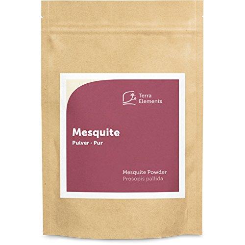 Terra Elements Mesquite Pulver 250 g I Mit natürlichem Karamellaroma I Glutenfrei I 100% rein I Vegan I Rohkost