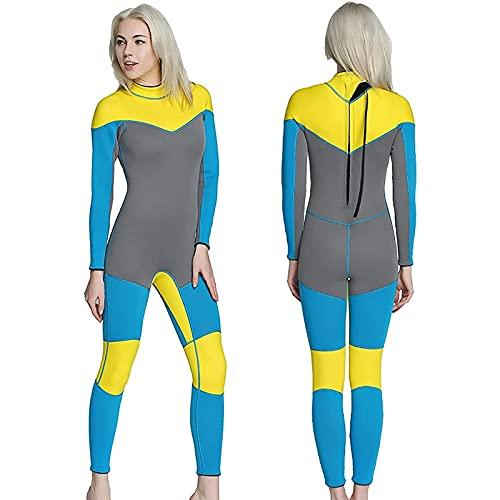 SONG HETSUITS para Mujeres EN Agua FRÍA, Traje de Buceo de Cuerpo Completo para Damas, Trajes de Neopreno térmicos de 3 mm, para bucear Surfing Snorkeling (Tamaño : L)