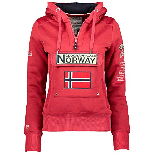 Geographical Norway Sudadera DE Mujer GYMCLASS Rosa Llamativo S