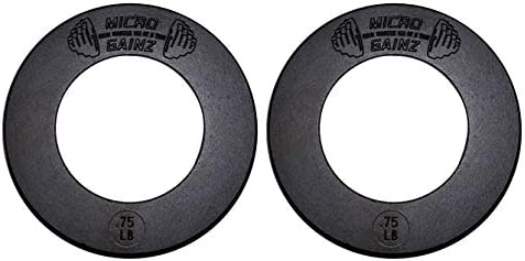 Micro Gainz Calibrated Fractional Weight Plate Sets of 2 Plates .25LB-1.25LB (Choose Set)-Designed for Olympic Barbells, Used for Strength Training and Micro Loading, Made in The USA