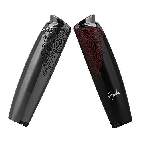 【高い品質】PIPITA (2個セット) タバコ ライター 葉巻ガスライター 注入式 ジェットライター 防風 充填式 直噴ターボライター ろうそく着火用ガスライター(ガスなし)