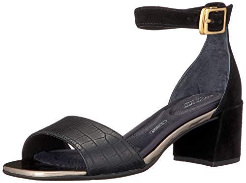 Rockport Total Motion Alaina Ankleband Sandal, Bride Cheville Femme, Noir Noir 001, 38 EU