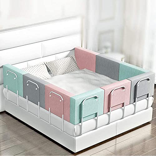 Bed Guard Rail for Toddler Bed, Safety Guard and Vertical Liftable Extra Long Bedrail for Kids Twin, Double, Full Size Queen & King Mattress