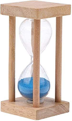 Hsj 5 Minuten aus Holz Sanduhr Sanduhr Sand Eieruhr Küchenuhr Glas Geschenk, Sand Glass Hour Meter Sand-Timer for Kinder Sand Clock Sanduhr Sanduhr Sand Clock Spiel Home Decoration Exquisite Verarbeit