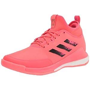 adidas Women's Tokyo Crazyflight Mid Cross Trainer, Pink/Black/Pink, 7.5