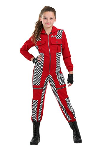 Racer Jumpsuit Girls Costume Small